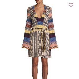 { FREE PEOPLE } PATCHWORK BELL SLEEVE DRESS